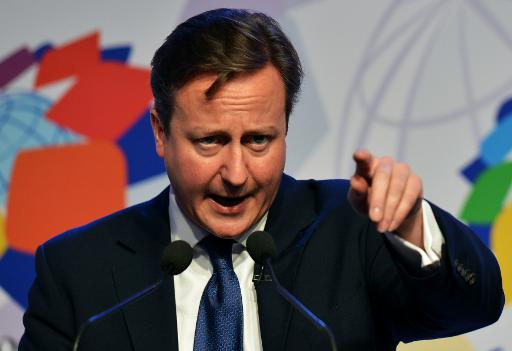 British Prime Minister David Cameron speaks during a news conference on the second day of the Commonwealth Heads Of Government Meeting (CHOGM) in Colombo on November 16, 2013 (AFP, Ishara S. Kodikara)