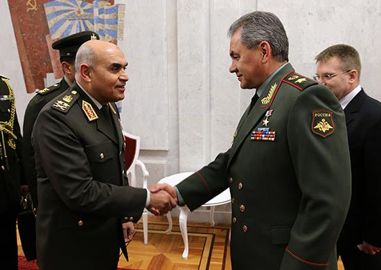 Defence Minister Sedki Sobhi and his Russian counterpart Sergey Shoigu conducted high-level bilateral talks in Russia (Photo Armed Forces Handout)