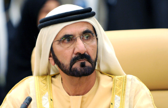 Vice President and Prime Minister of the United Arab Emirates (UAE) and Ruler of Dubai Mohamed bin Rashid Al-Maktoum  (AFP Photo)