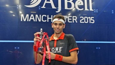 El-Shorbagy following his winning performance at the British Grand Prix