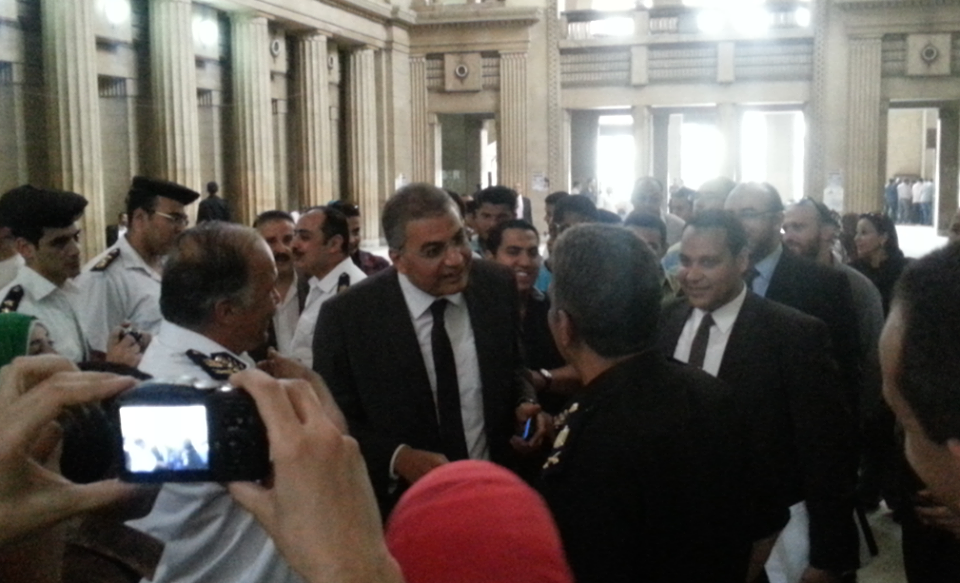 Al-Wasat Party Vice-President Essam Sultan was interrogated by prosecutors on Wednesday at the High Court building. (Photo courtesy of Al-Wasat Party)