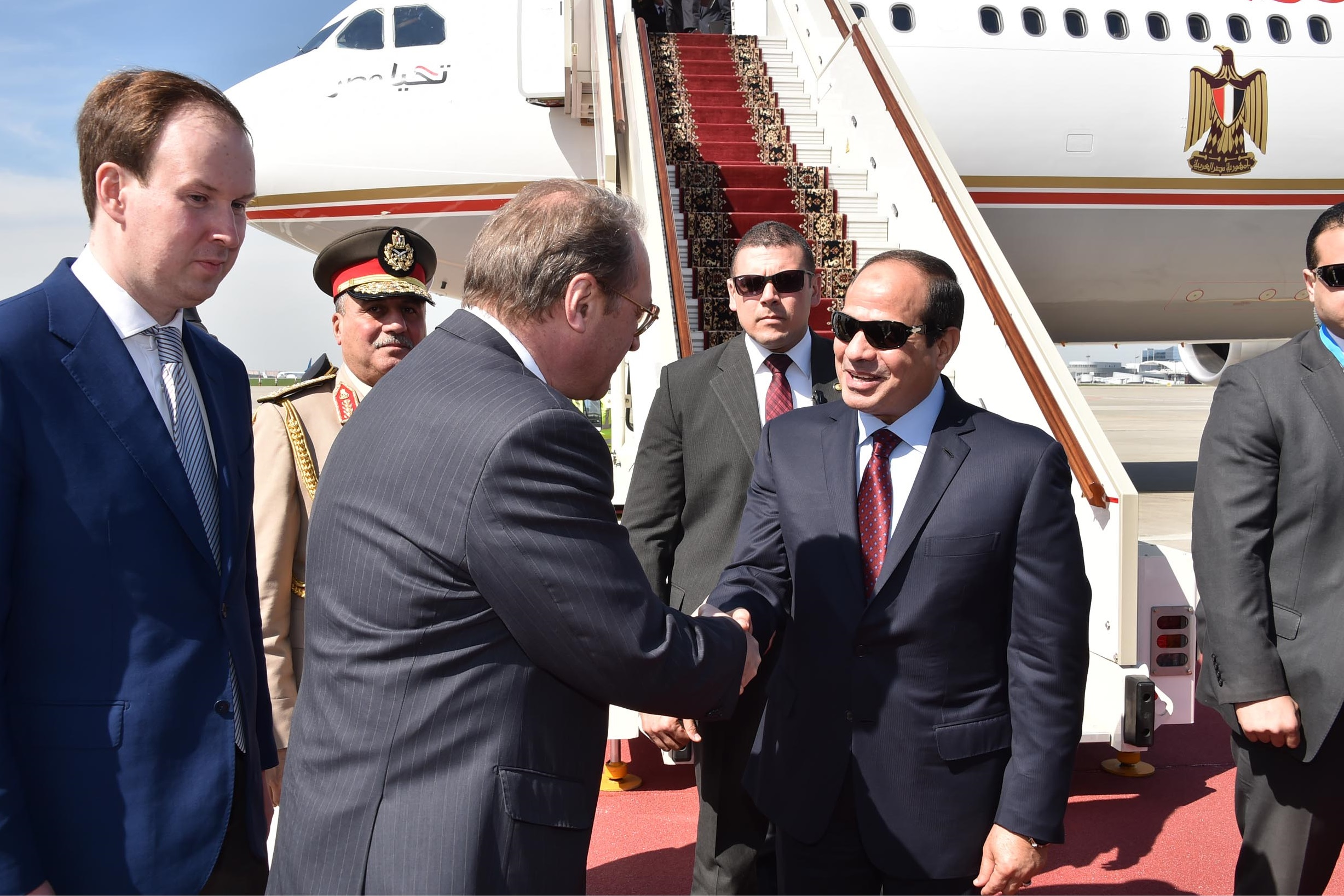 Egyptian President Al-Sisi is set to meet President Vladimir Putin on Russia's Victory Day (Photo handout of the Presidency)