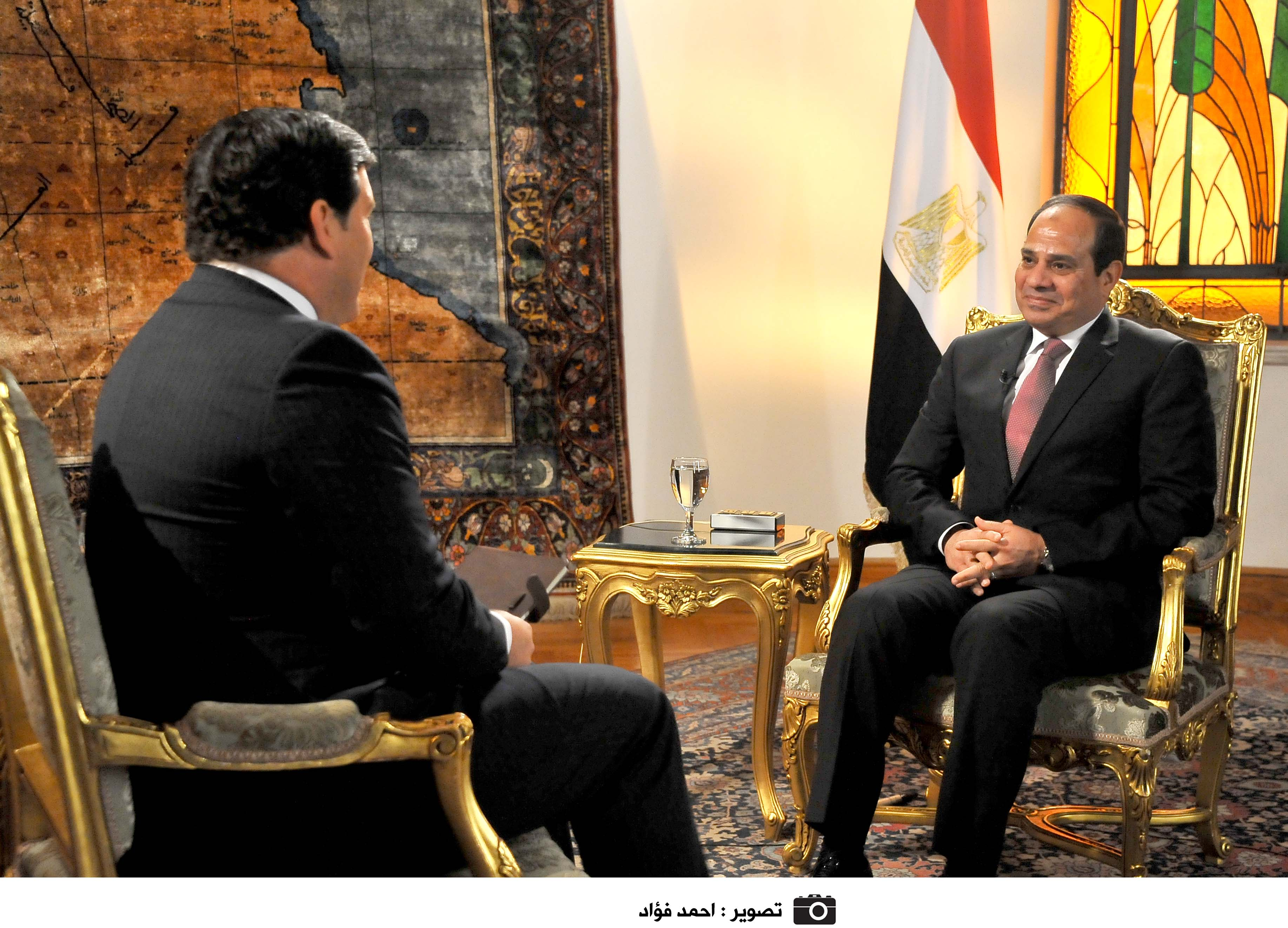 President Al-Sisi talked to Fox News on 9 March (Handout from the Presidency)