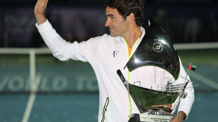 The Swiss player, Roger Federer, who is ranked 2nd on the ATP, won the title of the Dubai tennis championship