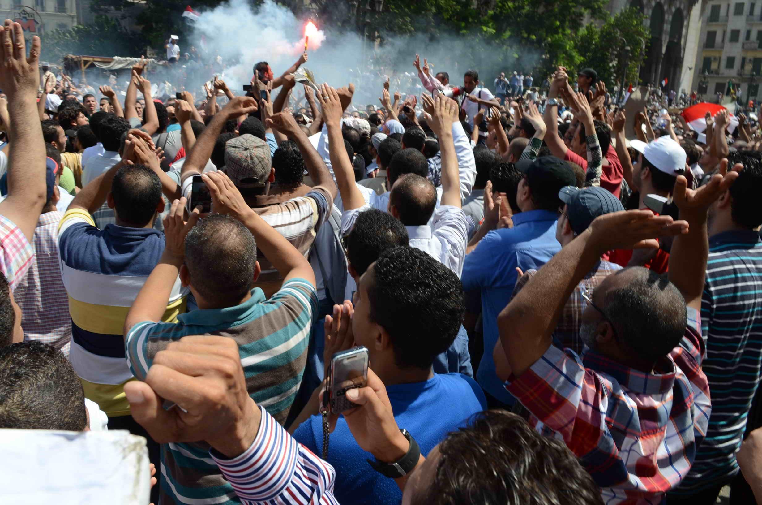 Muslim Brotherhood supporters down Ramsis st. Ahmed Al-Malky