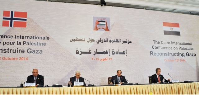 In continued efforts to bring reconstructive aid to Gaza, a total of $5.4bn has been pledged at the Gaza Reconstruction Conference in Cairo on Sunday. (Photo by Ahmed Fouad)