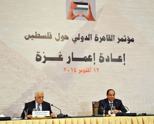 "President Abdel Fattah Al-Sisi reiterated Egypt's support for Palestine as he opened the conference, emphasising to Israel that it is ""time to end the conflict"". (Photo by Ahmed Fouad)"