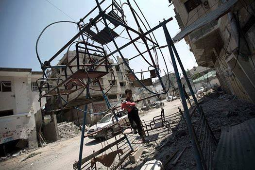 A children's park in Al-Shati camp in Gaza was shelled on Monday, killing 10 children