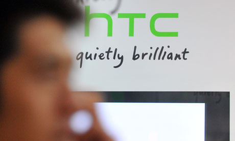 The Taiwanese Smartphone company, HTC, announced a drop in its third quarter revenues to register $1.6bn, which is its first-ever quarterly loss. (AFP Photo)