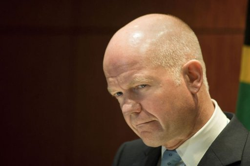 Foreign Secretary William Hague gives a press conference on September 10, 2013, in Cape Town (AFP, Rodger Bosch)