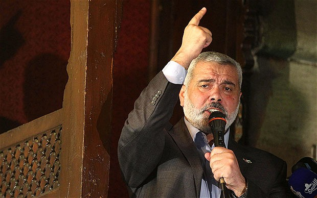 PM Ismail Haniyeh speaking during Friday prayers at Al Azhar mosque in Cairo in February 2012  (AFP File Photo)