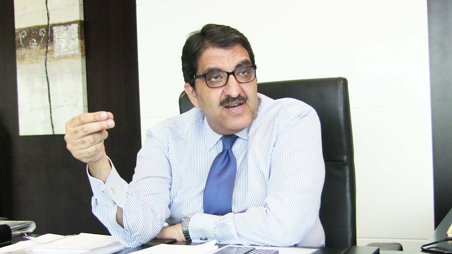 Chairman of e-finance Ibrahim Sarhan (DNE photo/ Omar Al-Qorashi)