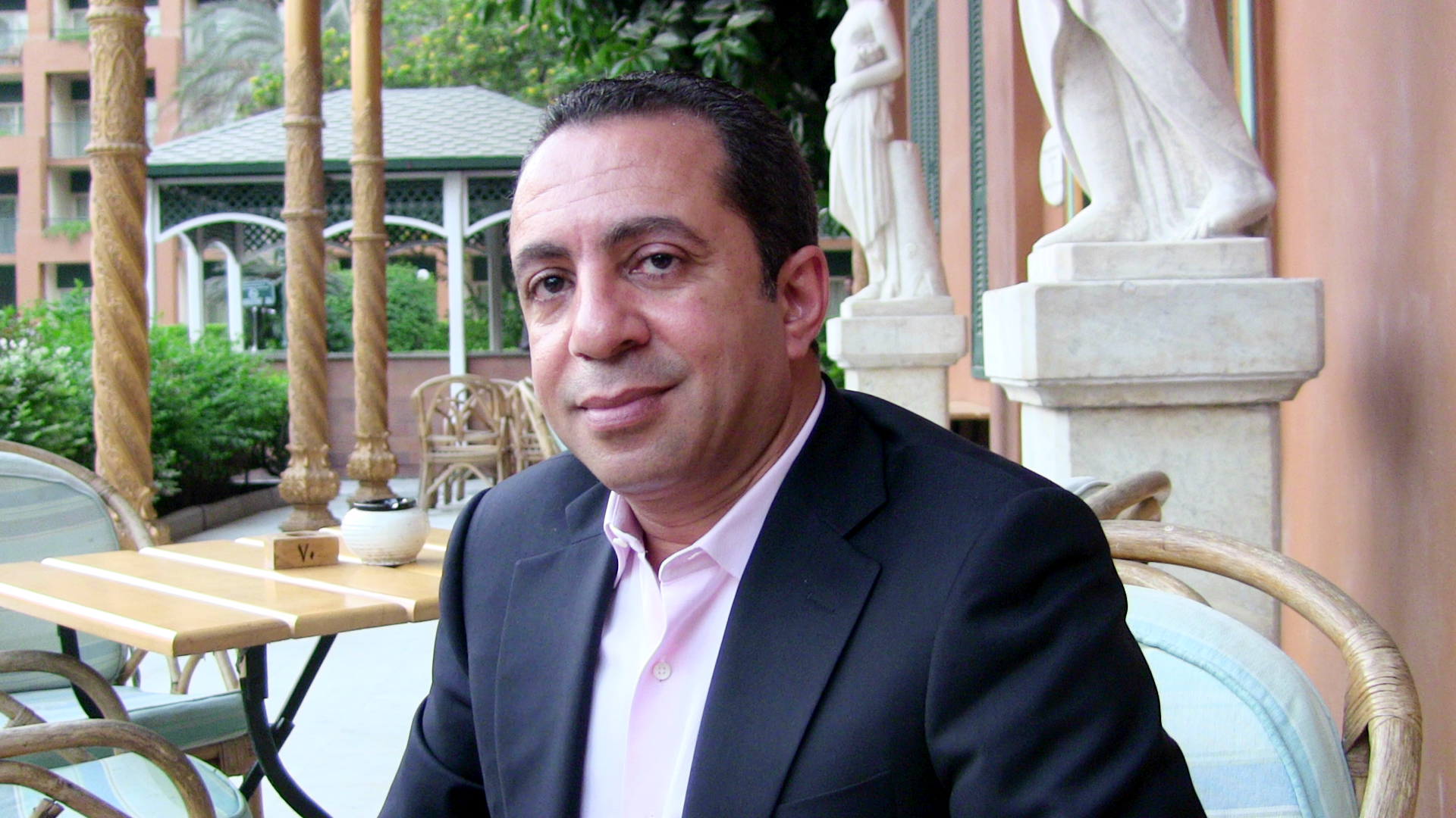 Hassan Aziz, Chairman of the Egyptian Federation for Private Aviation. (Photo by Omar Qureshi)