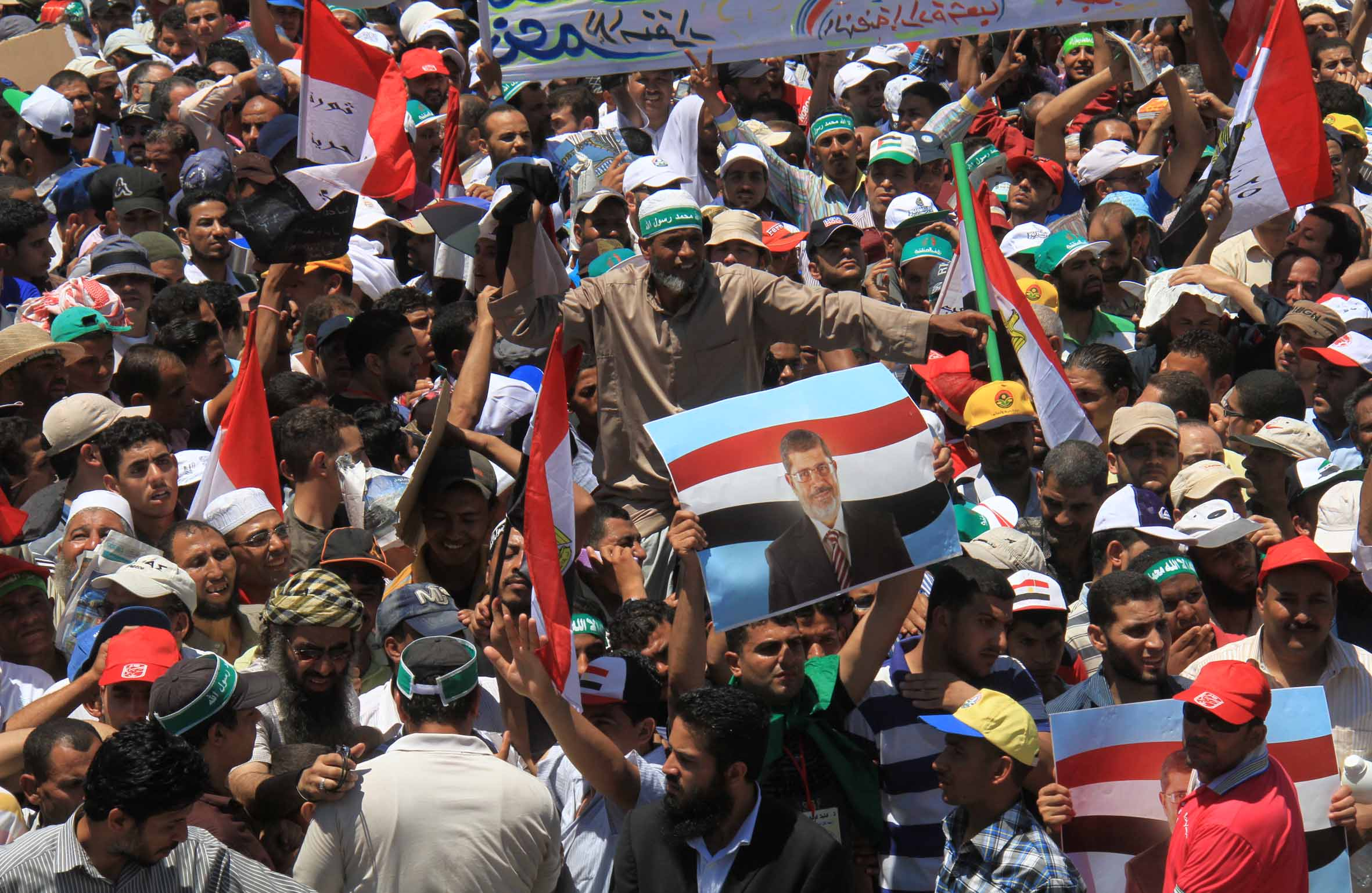 Rabaa Al Adaweya pro-Morsi sit it which has been ongoing for over three weeks (File Photo by Mohamed Omar/DNE)