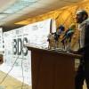 Leftist activist Haythim Mohamden speaking at BDS campaign. (Photo by Mahmoud Fikry)