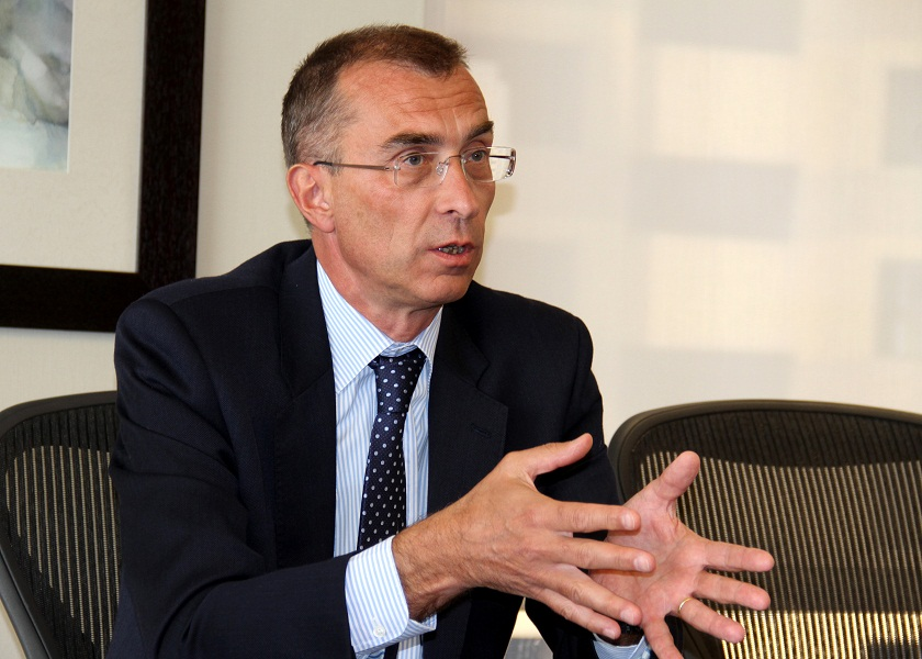 HSBC Bank Egypt SAE's Deputy Chairman and Chief Executive Officer, Jacques Emmanuel Blanchet, talks to Daily News Egypt to outline the priorities and goals that the bank holds in Egypt. (DNE Photo)