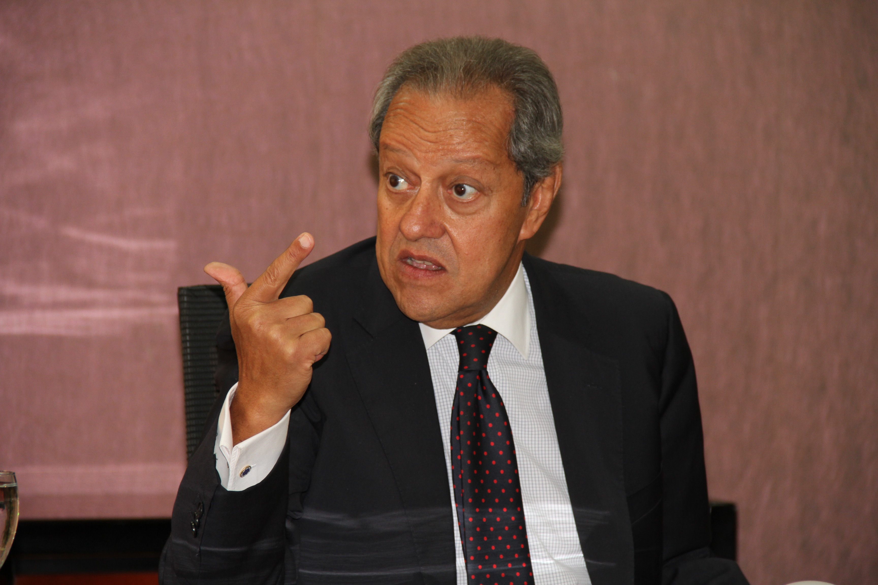 Minister of Industry and Foreign Trade Mounir Fakhry Abdel Nour told the Daily News Egypt in an interview for the Euromoney supplement that the law offering preferential treatment to local products will be referred to the presidency in September for approval. (DNE Photo)