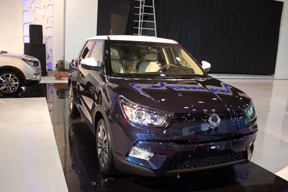 Arabiat Company, the agent for SsangYong in Egypt, presented the Tivoli model, with prices ranging between EGP 178,000 and EGP 225,000. It can be delivered a month and a half from the date of reservation. (DNE Photo)
