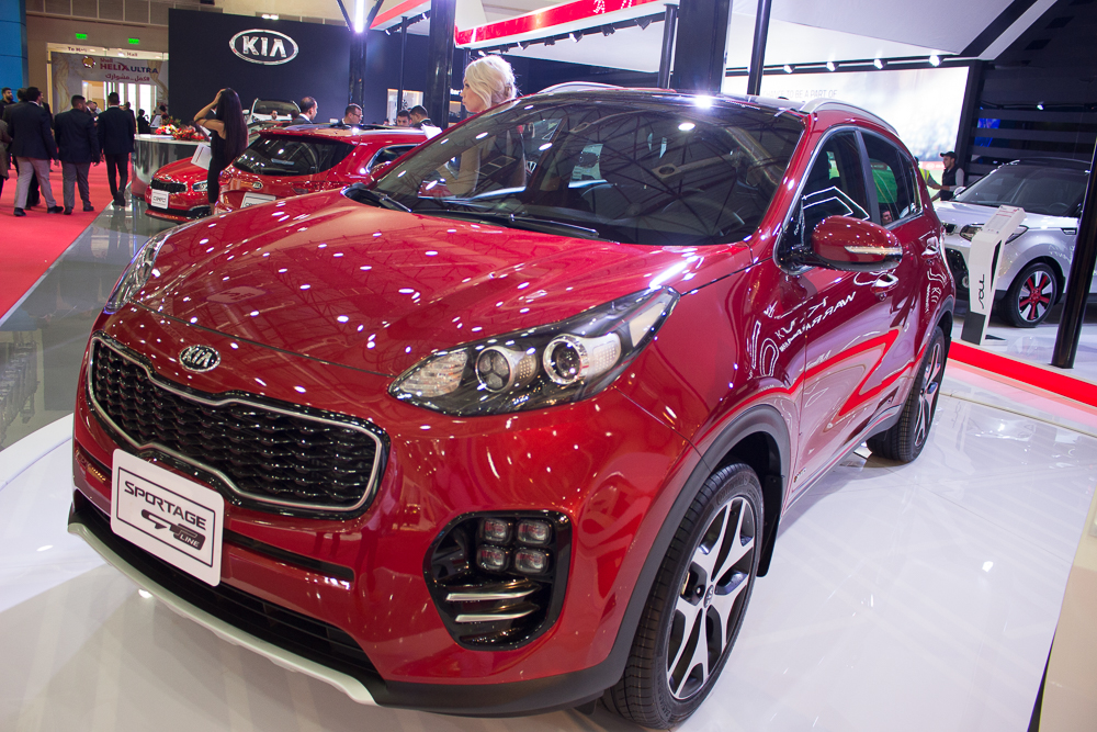Kia presented 10 models in its pavilion: the fourth generation Sportage, Cee'd and Cee'd Sportswagon, Picanto, Soul, Grand Carnival, Sorento, Cerato, Carens, and Rio. (DNE Photo)