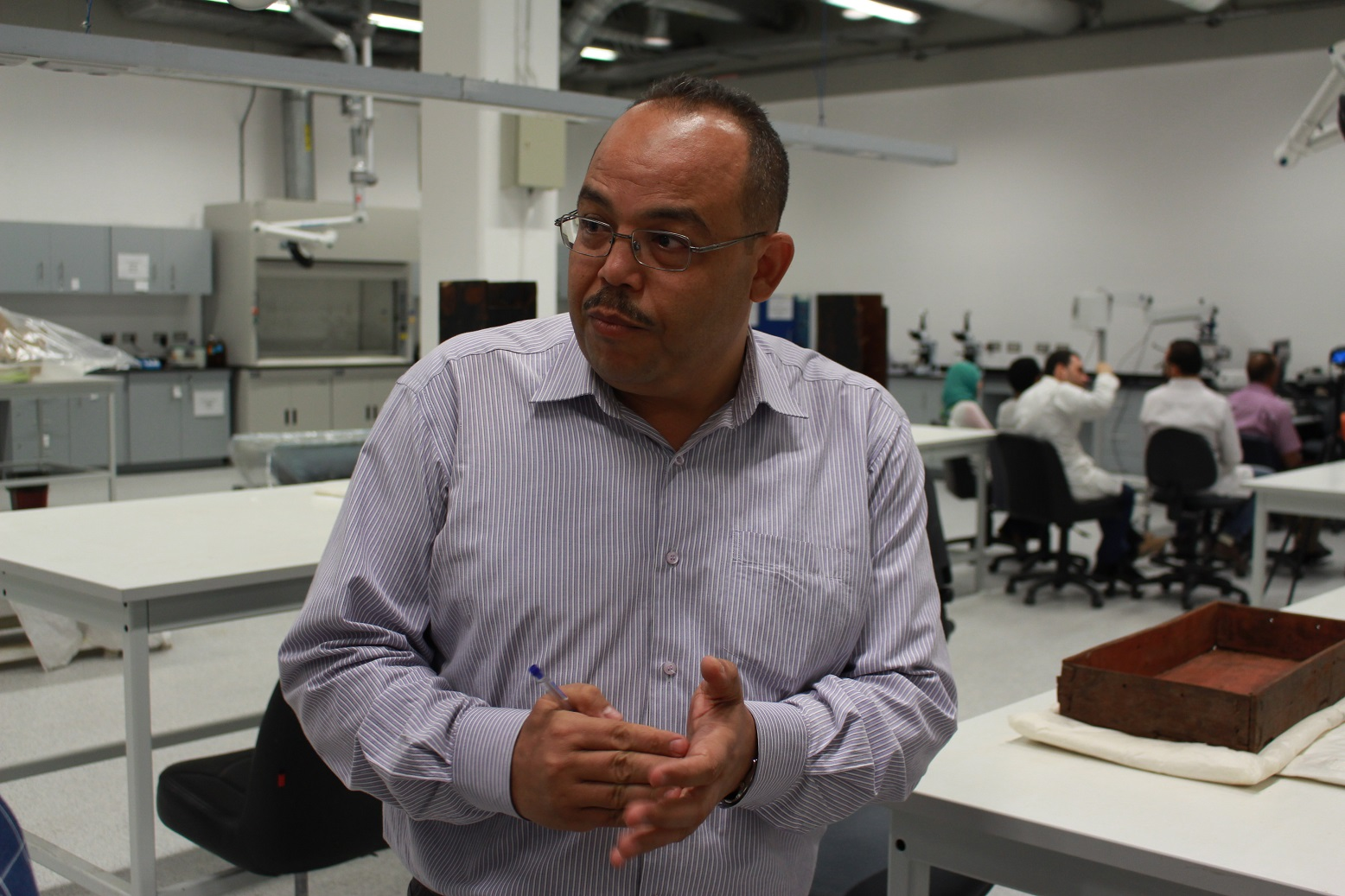 Medhat Abdellah - manager of the wooden antiquities restoration and maintenance laboratory (DNE Photo)