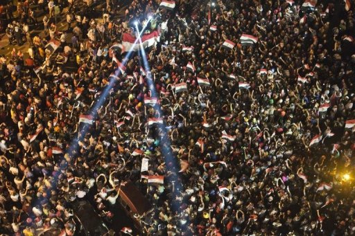 Egyptians protest against President Mohamed Morsi outside the presidential palace in Cairo on July 1, 2013 (AFP, Khaled Desouki)