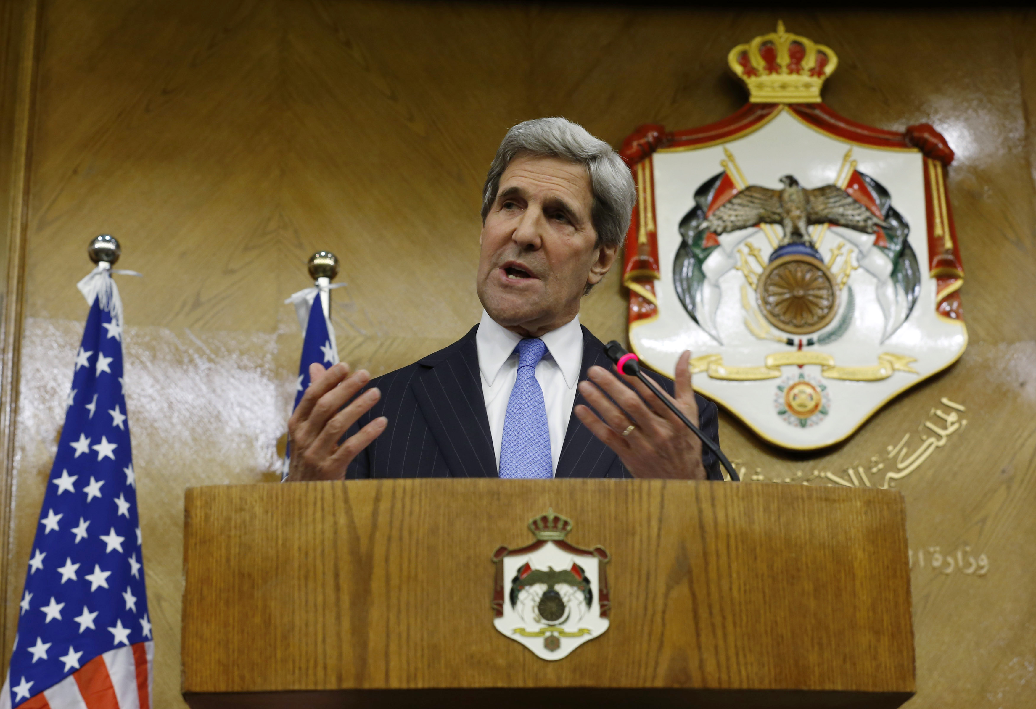 "US Secretary of State John Kerry supports the EU's efforts to ""calm tensions"" in Egypt"