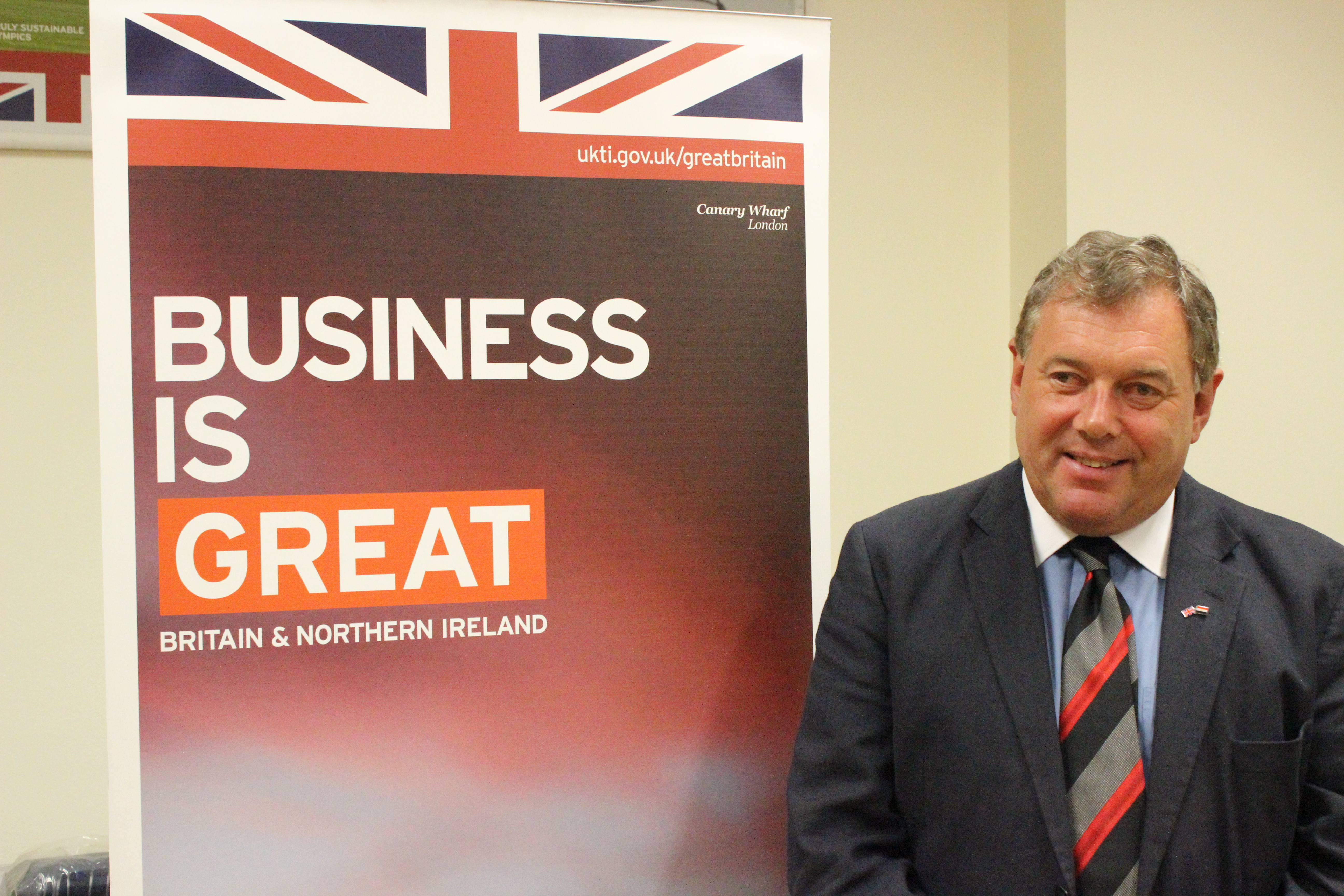 John Franck UK Trade and Investment Director in Egypt (Photo courtesy of the British Embassy)