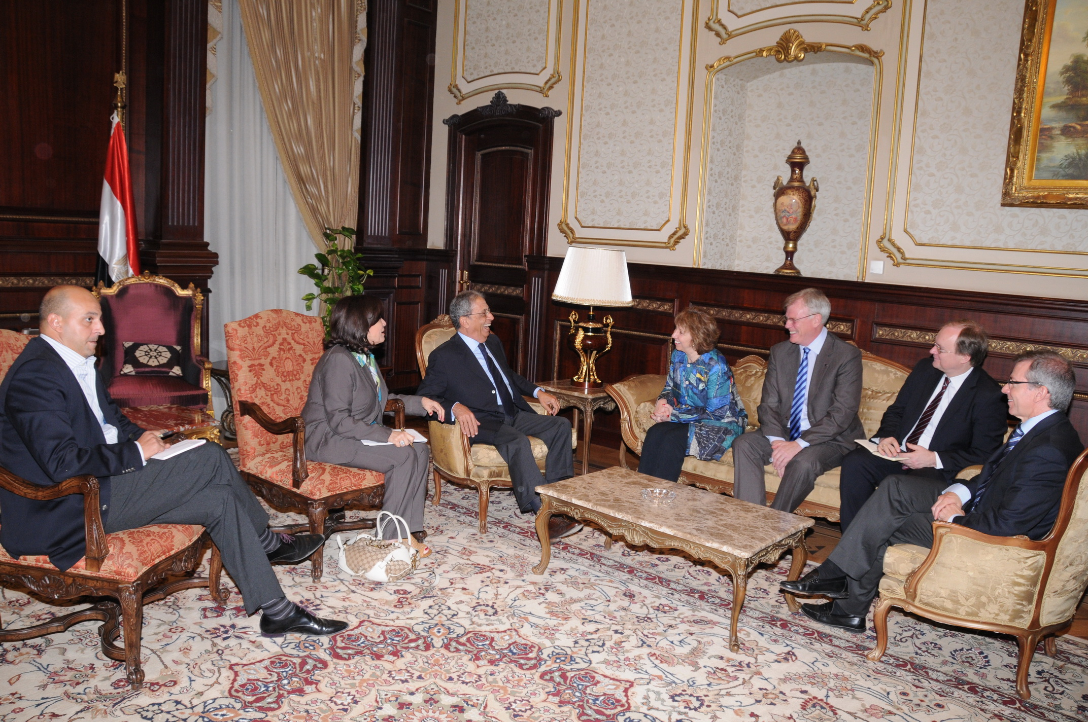 Ashton met with Constituent Assembly Amr Moussa on Wednesday (Photo by Mohamed Omar/DNE)