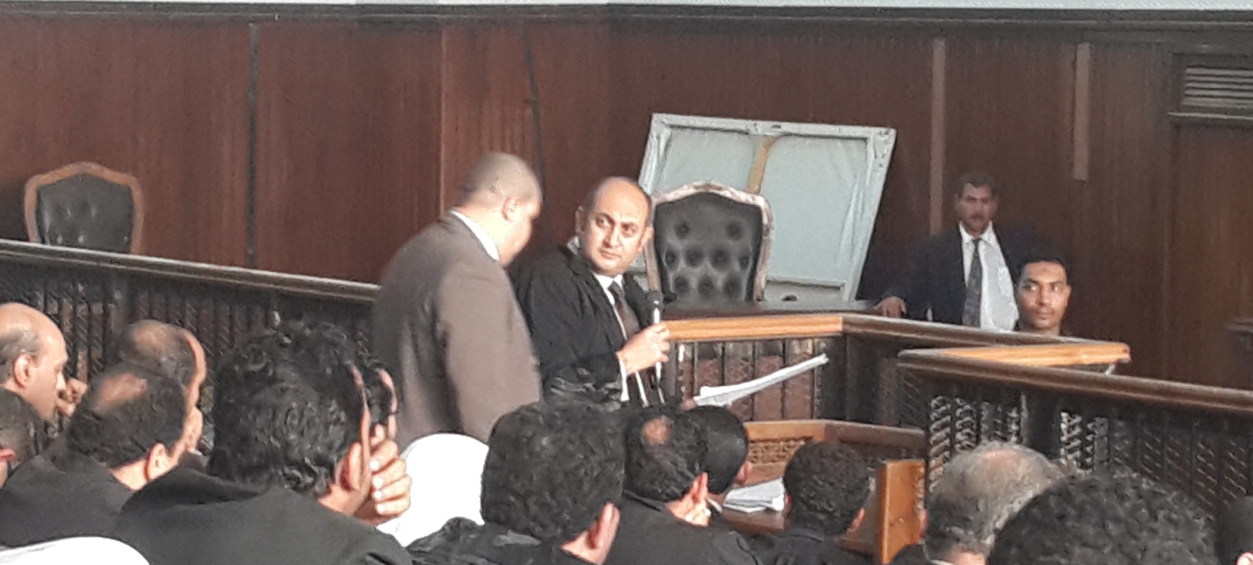 Prominent defence lawyer and former presidential candidate Khaled Ali makes claim in court. Photo by DNE.