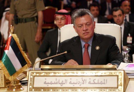 Jordan's King Abdullah II attends the opening of the Arab League summit in the Qatari capital Doha on March 26, 2013 (AFP/File, Karim Sahib)