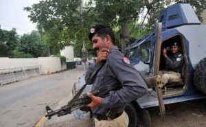 Police and soldiers were maintaining a highly visible presence on the streets in Lahore, Pakistan (AFP Photo)