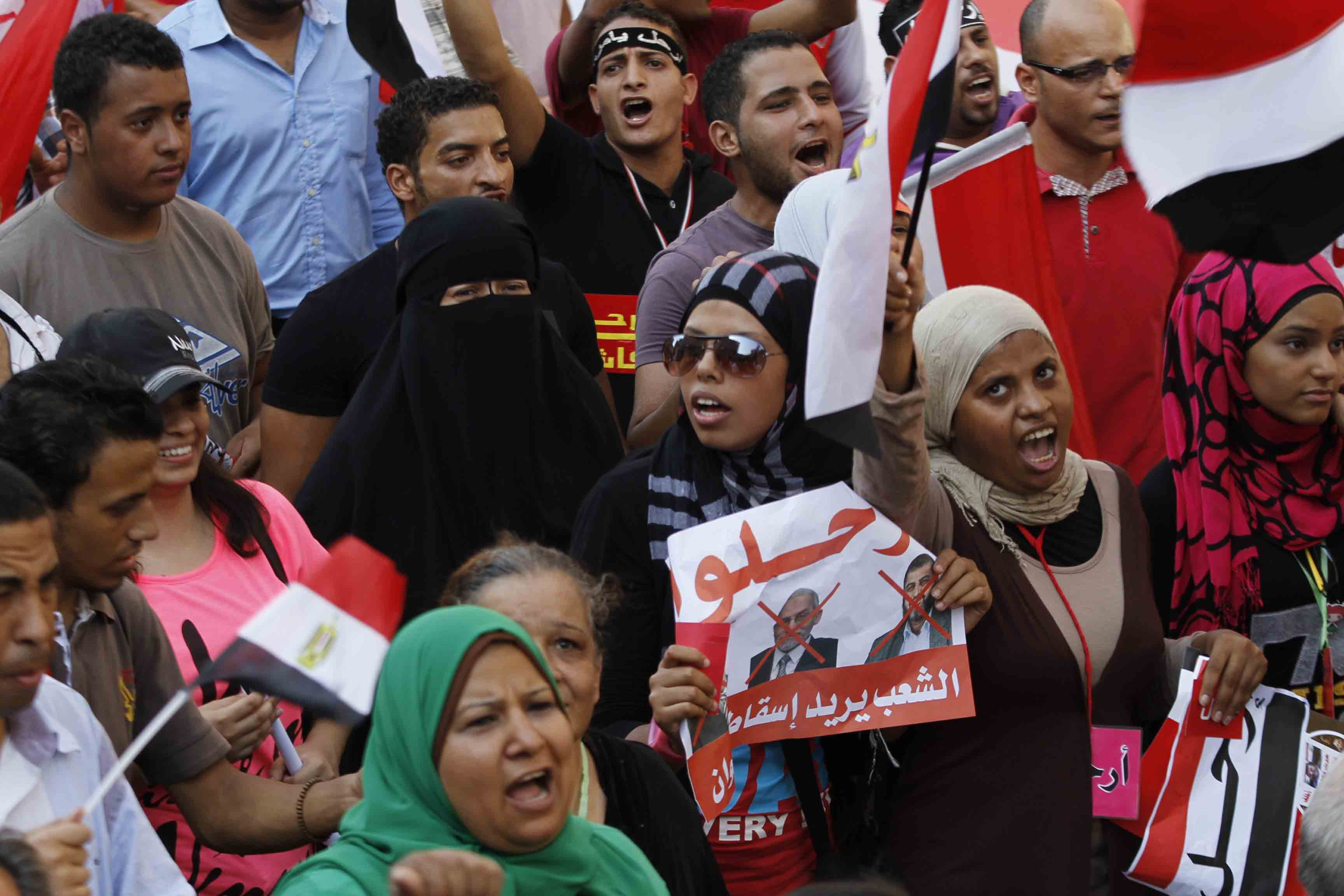 The statement deplored the 49 instances of gang rape and sexual assault of women it had recorded in Tahrir Square during recent protests. (Photo by Ahmed Al-Malky)