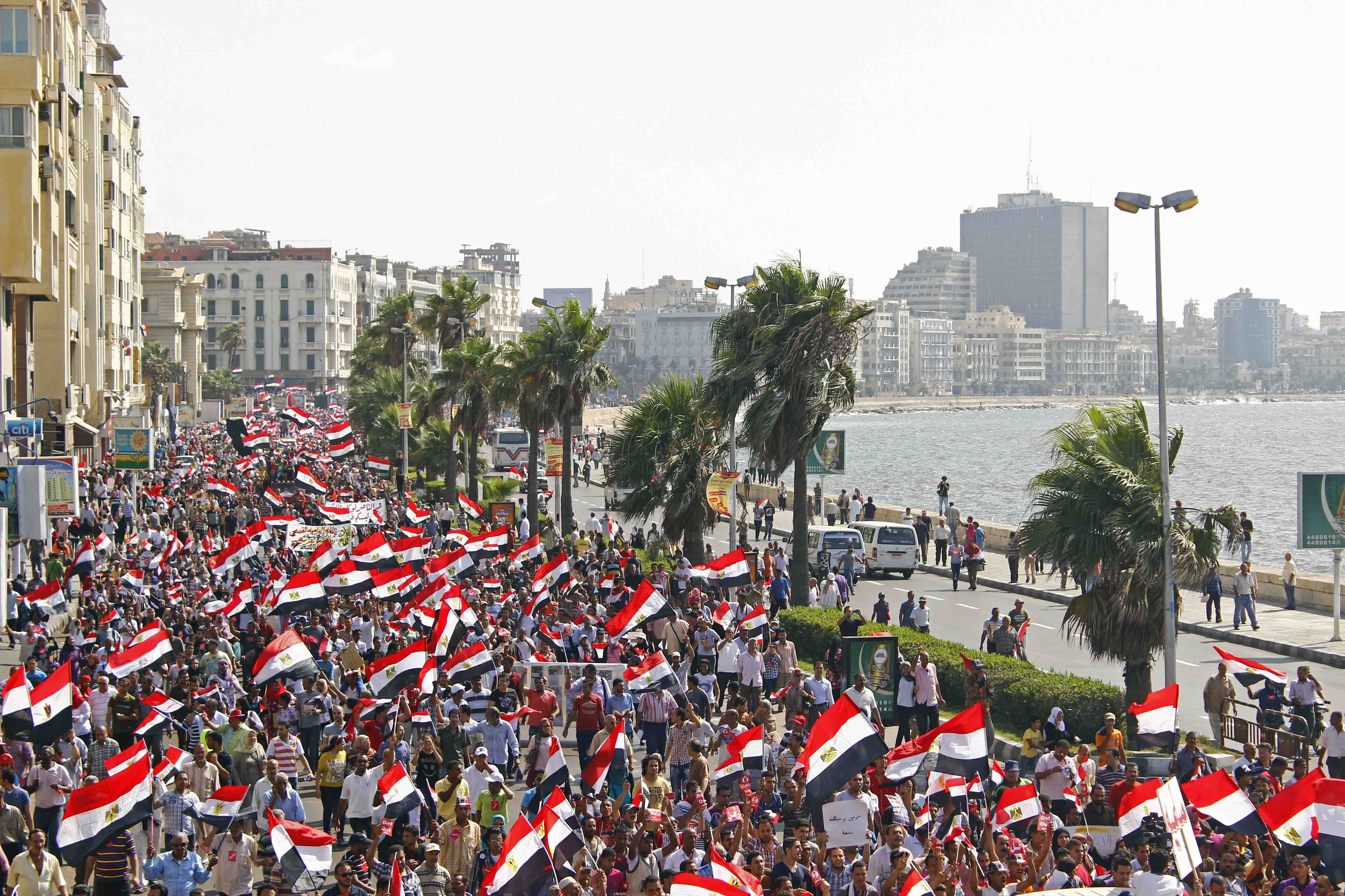 Protesters gathered in Alexandria June 30,2013. (Photo by Ahmed Arab)