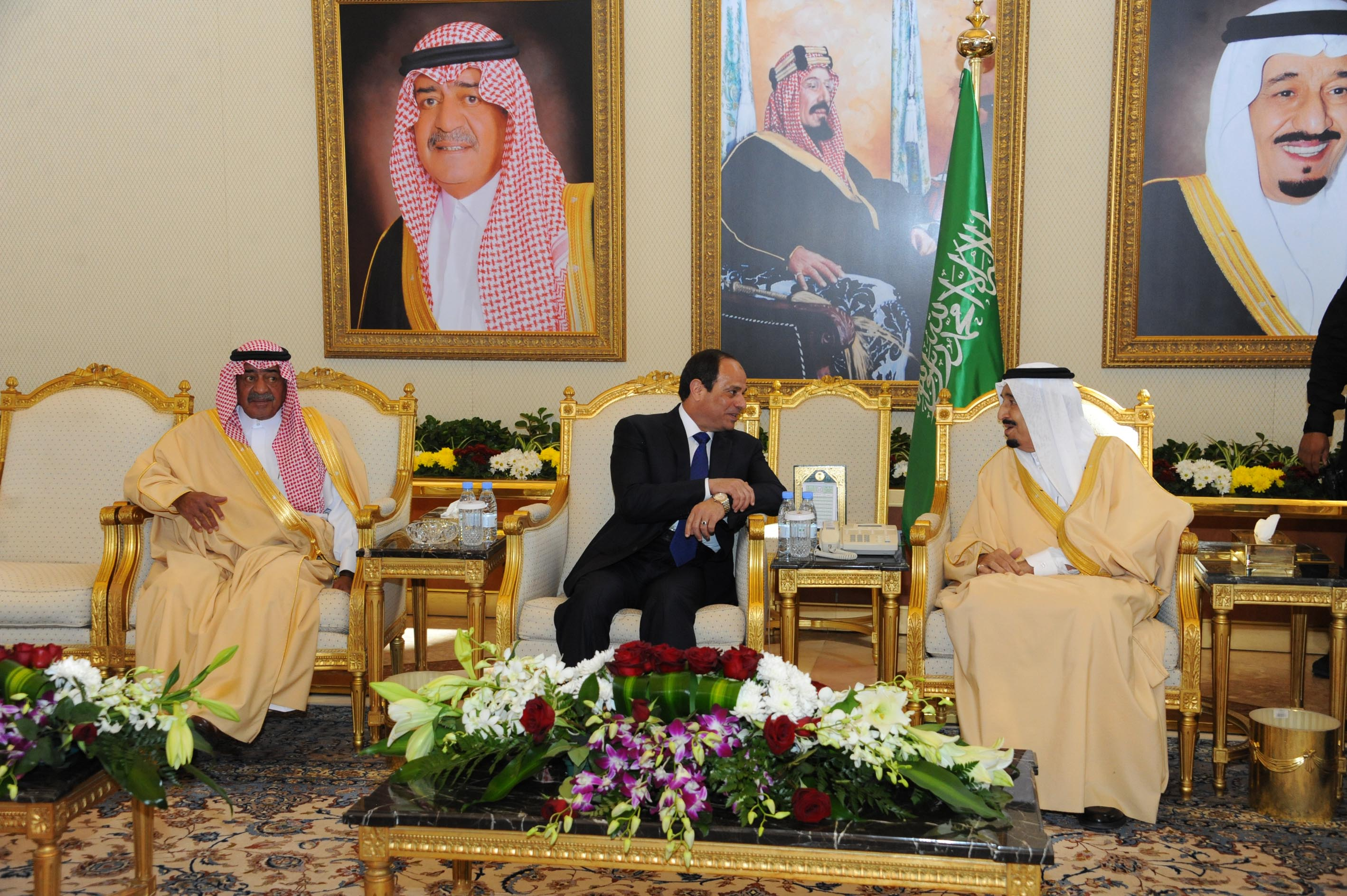 Egyptian President Abdel Fattah Al-Sisi previously met with Saudi King Salman Bin Abdulaziz on March 2015 to discuss and promote bilateral ties between both countries (Photo Presidency Handout)