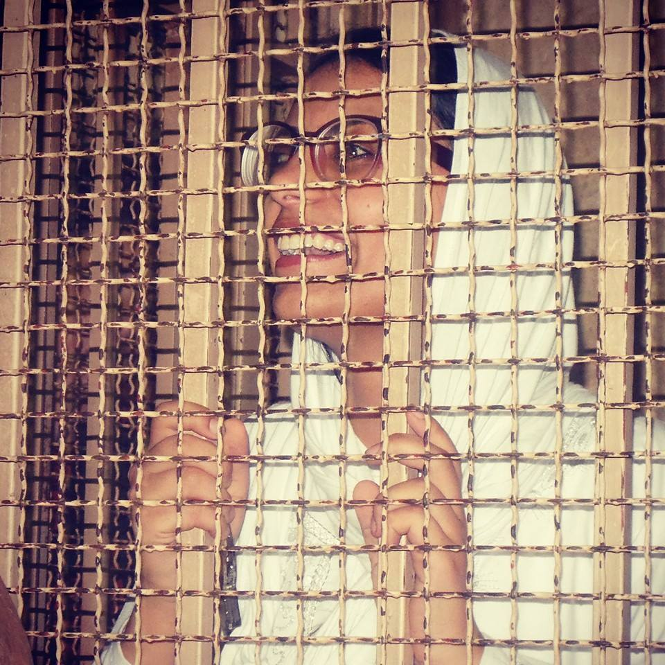 Egyptian activist and lawyer Mahienour El-Massry (Photo from Free  Mahienour)