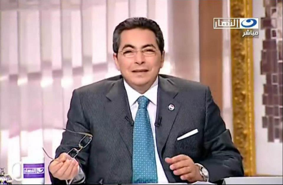 "The Arab Network for Human Rights Information (ANHRI) condemned the banning of TV presenter Mahmoud Saad on Saturday from presenting his talk show ""Akher Al-Nahar"" on private channel, Al-Nahar TV. (Photo Public Domain)"