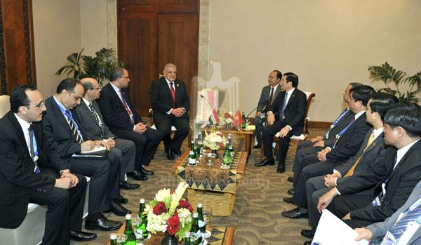"The State Information Service (SIS) hailed Prime Minister Ibrahim Mehleb's visit to Indonesia Sunday as ""a message that Egypt has made a strong return to its natural and central role in the world"". (Photo Cabinet Handout)"
