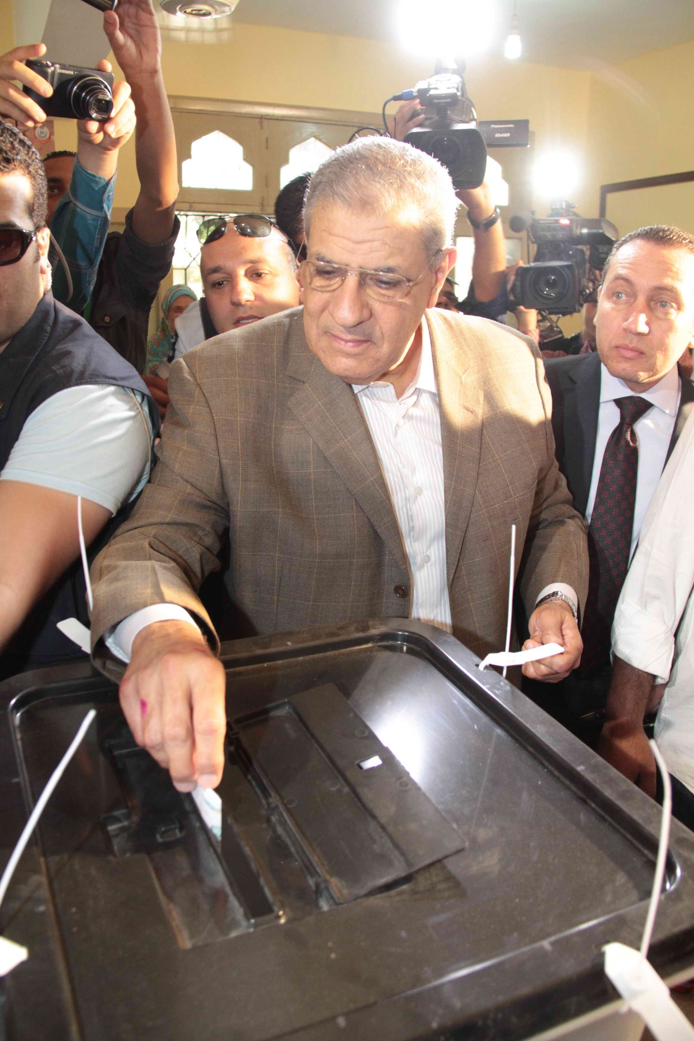 Interim Prime Minister Ibrahim Mehleb is voting in the Presidential Election on Monday. (Photo by AHmed Al-Malky)