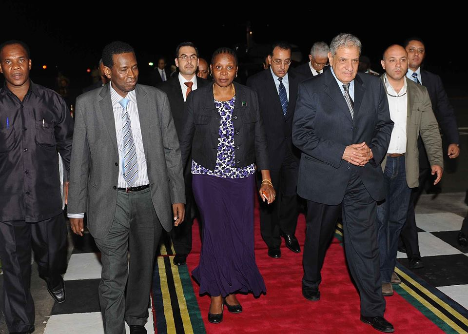 Egyptian Prime Minister Ibrahim Mehleb arrived in Tanzania on Friday (Photo courtesy of Egyptian Cabinet)