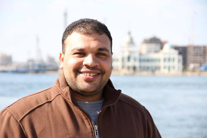 Al Jazeera cameraman Mohammad Badr was arrested on 15 or 16 July while covering clashes between security forces and Morsi supporters at Ramses Square.   (Photo from Together for the release of Mohamed Badr Al Jazeera cameraman Facebook Page)