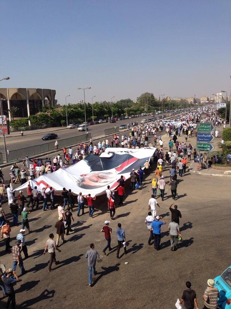 Pro Morsi march in Nasr City last Friday 26 July 2013 (Photo by Aaron T. Rose/DNE)