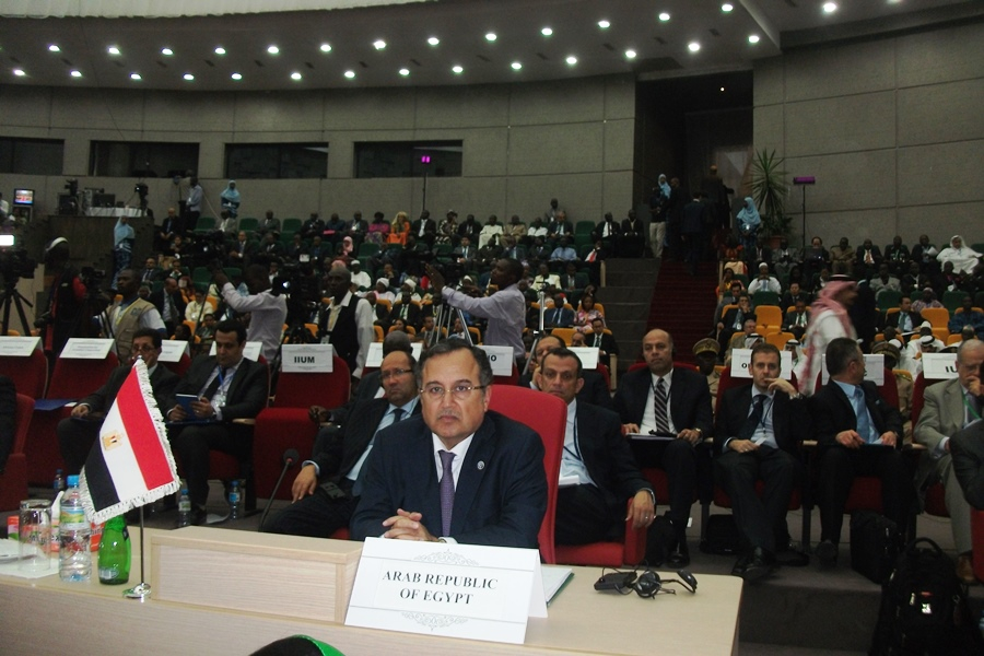 Minister of Foreign Affairs Nabil Fahmy outlined Egypt's position on several regional and international issues relating to the Muslim World during his speech at the Organisation of Islamic Cooperation's (OIC) 40th Council of Foreign Ministers. (Photo courtesy of Ministry of Foreign Affairs)