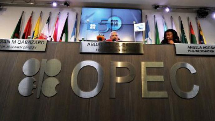 OPEC nudged up its world oil demand forecasts for 2013 and 2014 on Tuesday, citing improved economic sentiment in developed countries, including the United States and Europe. (AFP Photo)