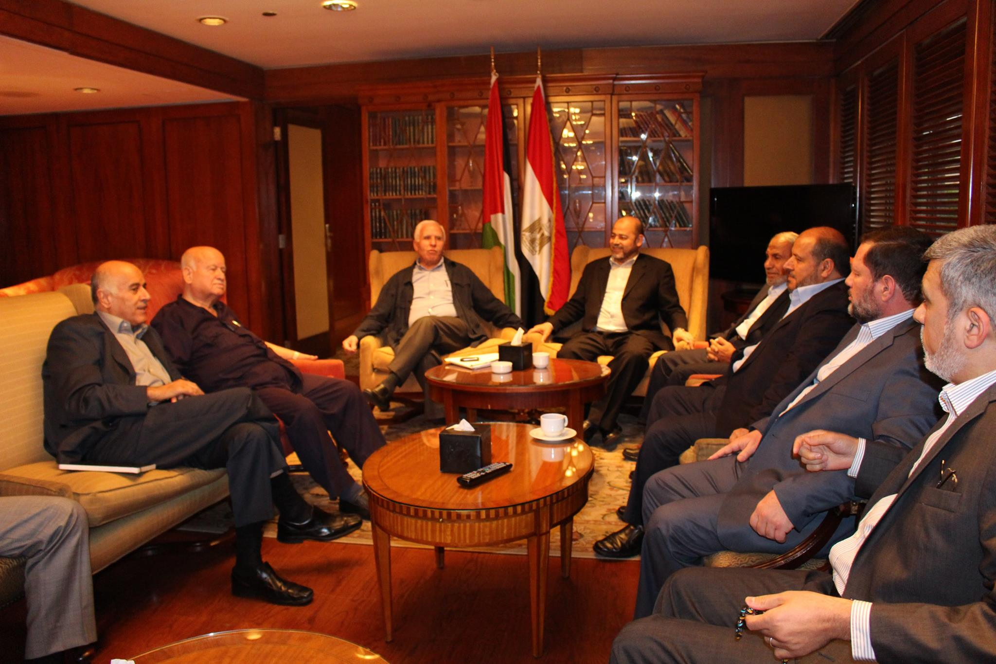 Hamas-Fatah delegation in Egypt for negotiations over Gaza conflict 2014  (Photo DNE Handout)