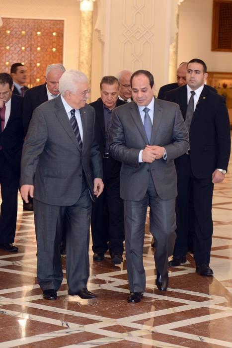 President Abdelfattah Al-Sisi with PA Mahmoud Abbas (Abu Mazen) in March (Photo DNE Handout)