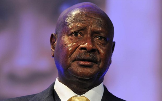 Ugandan president, Yoweri Museveni, describes Morsi's statements about Ethiopia as 'chauvinistic' (AFP File Photo)
