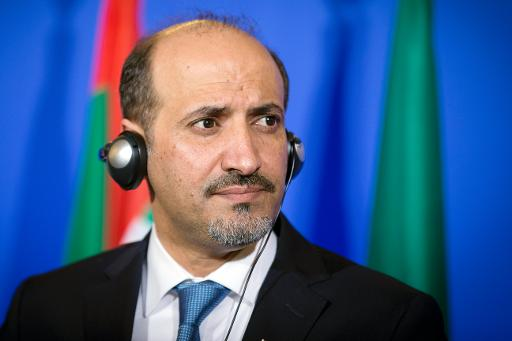 President of the National Coalition for Syrian Revolutionary and Opposition Forces (SNC), Ahmad al-Jarba, pictured during a press conference in Paris, on January 12, 2014  (AFP/File, Joel Saget)