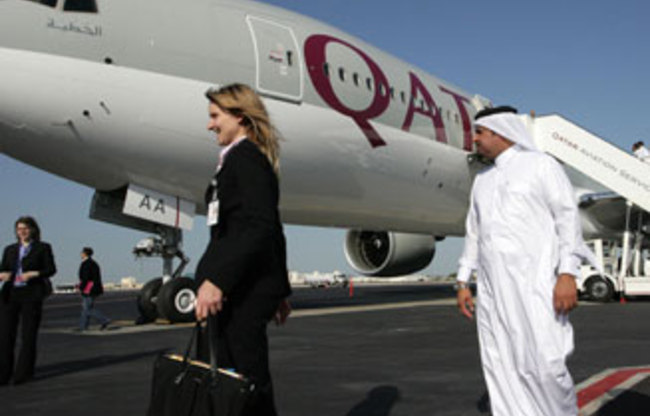 The International Transport Workers' Federation (ITF) is running a campaign against Qatar Airways over its monitoring of staff and rules preventing women from becoming pregnant and getting married. (AFP Photo)
