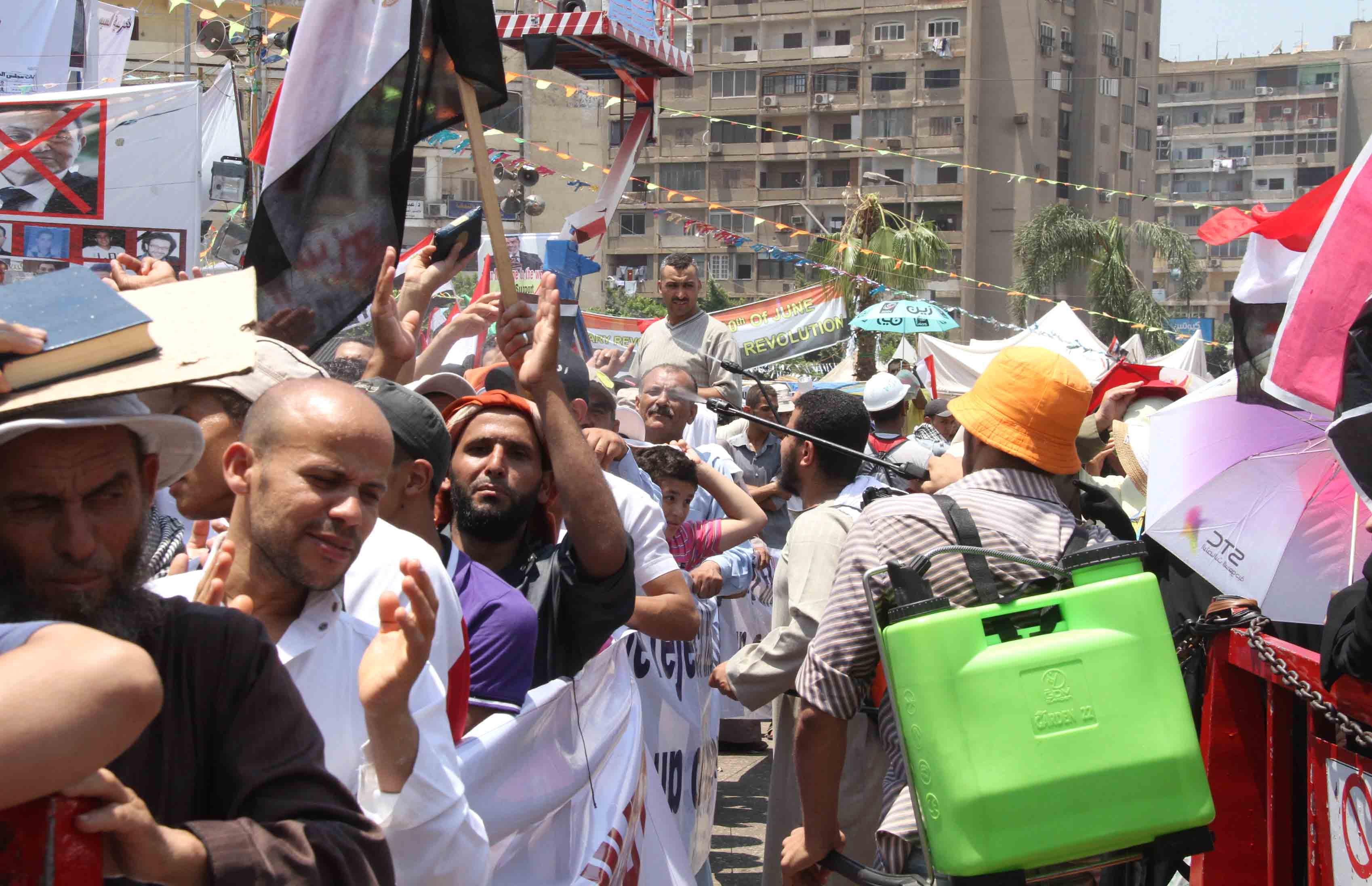 Pro-Morsi sit-in at Rabaa al Adaweya in Nasr City in 18 July 2013 (DNE File Photo)