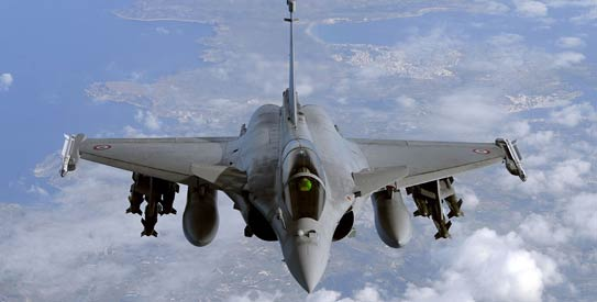 Egypt and France are set to sign a deal on 24 Rafale fighter jets, a naval frigate and related military equipment in Cairo on Monday. (AFP Photo)